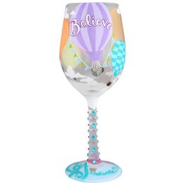 Lolita® Reach for the Sky Handpainted Wine Glass, 15 oz., , large