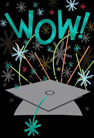 Wow Fireworks Graduation Card