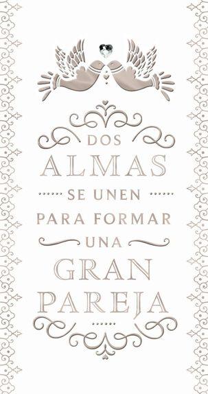 Perfect Pair Spanish-Language Money Holder Wedding Card