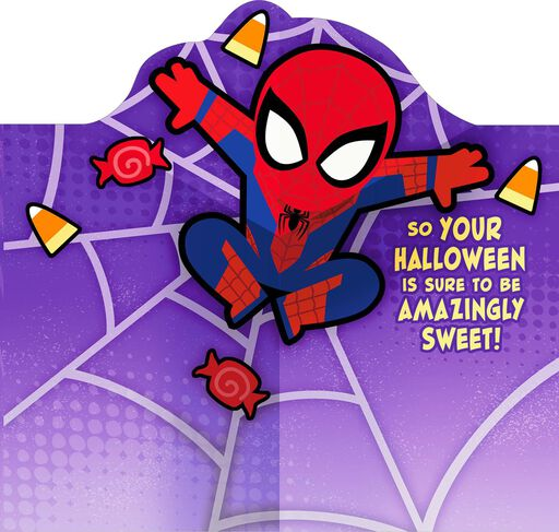 Spider-Man Great Treats Pop Up Halloween Card for Grandson,