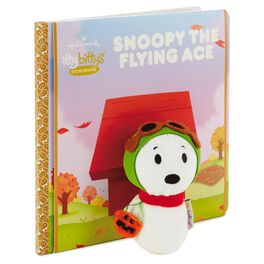 itty bittys® Snoopy the Flying Ace Stuffed Animal and Snoopy the Flying Ace Storybook Peanuts® Set, , large