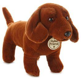 Red Short-Legged Dog Large Stuffed Animal, , large
