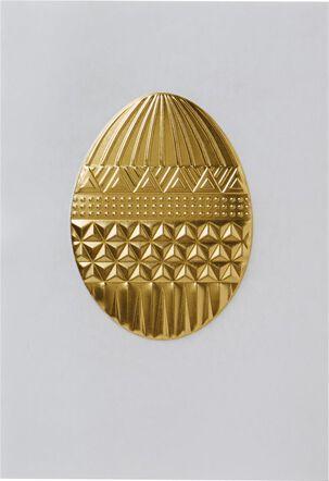 Embossed Bling Egg Easter Card
