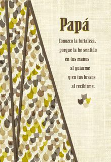 My Heart is Grateful for You Spanish-Language Father's Day Card for Dad,