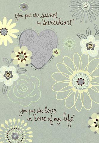 Sweet in sweetheart love birthday card greeting cards hallmark sweet in sweetheart love birthday card bookmarktalkfo Images