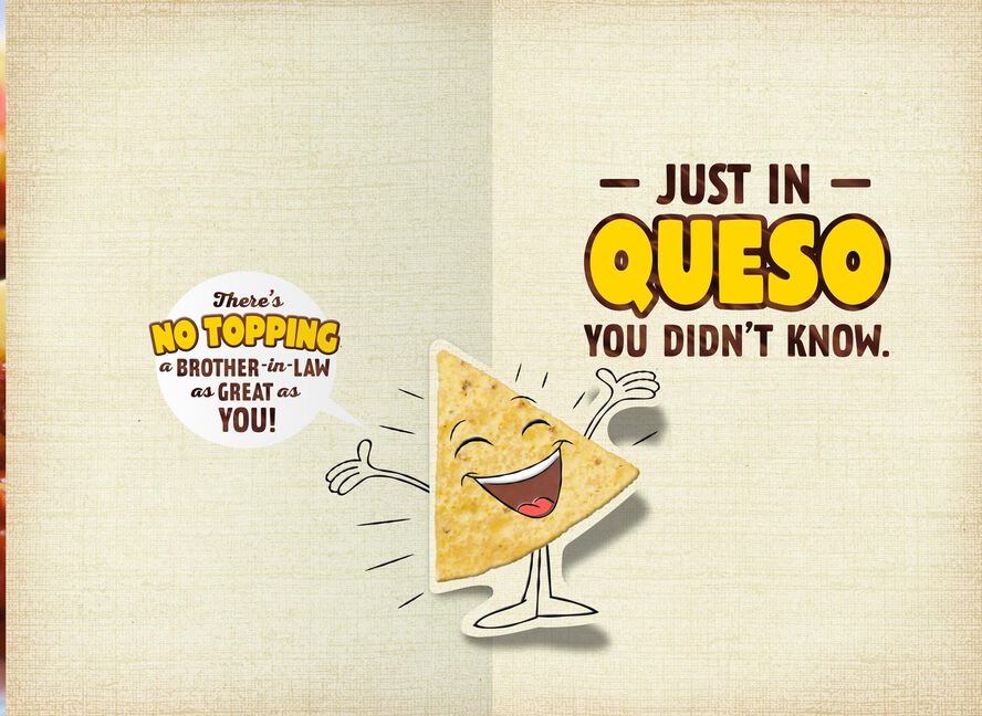 Queso Pop Up Birthday Card For Brother In Law Greeting Cards