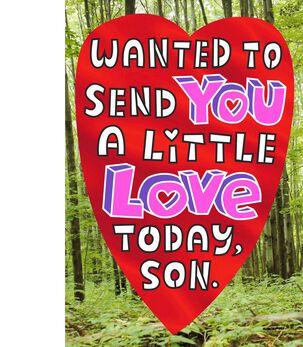 Bear Hug for Son Valentine's Day Card