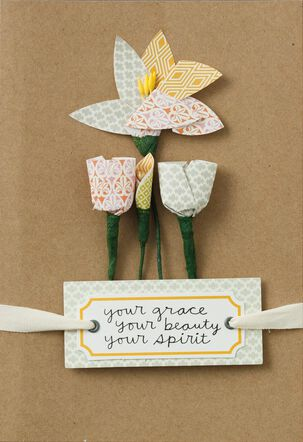 Grace, Beauty, Spirit Mother's Day Card