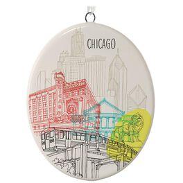 Chicago Ceramic Ornament, , large