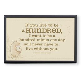 "Winnie the Pooh and Piglet ""Live to Be 100"" Small Plaque, , large"