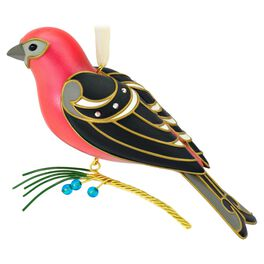The Beauty of Birds Pine Grosbeak Ornament, , large