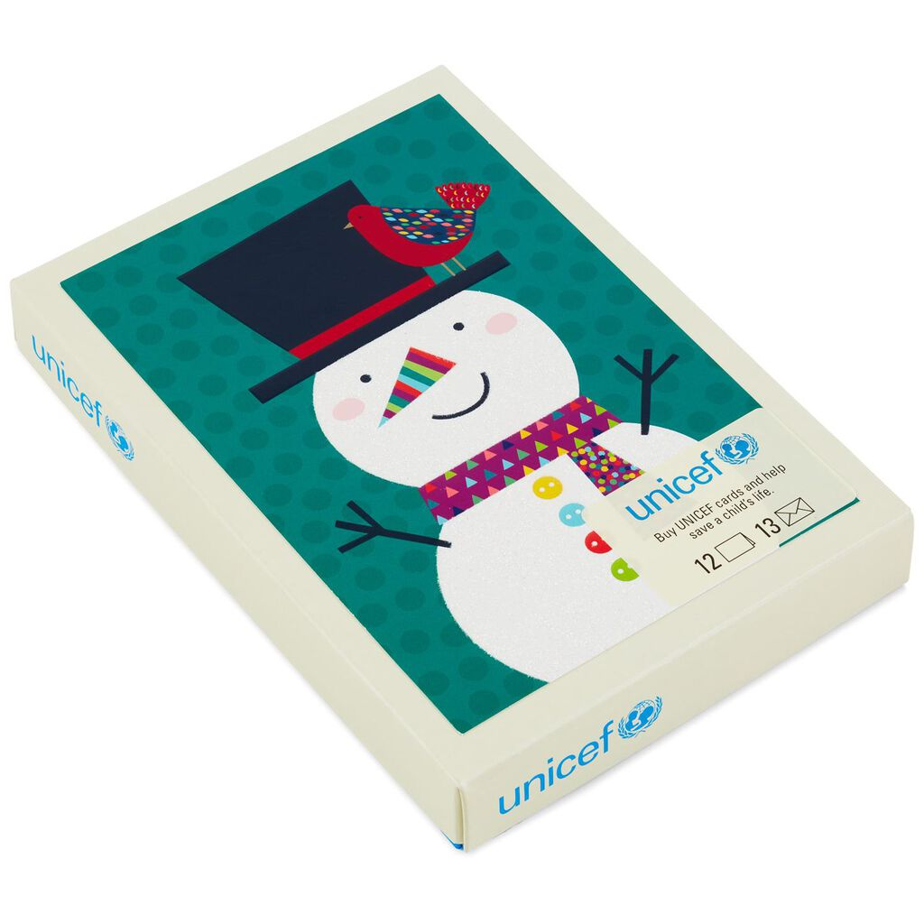 UNICEF Snowman and Cardinal Christmas Cards, Box of 12 - Boxed Cards ...