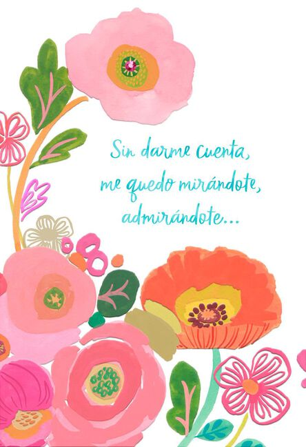 Flowers For My Wife Spanish Language Birthday Card Greeting Cards