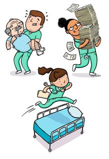 Real Hero Funny Nurses Day Card,