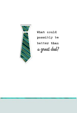 Two Dads Necktie Father's Day Card