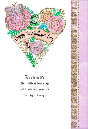 Heart of Flowers Happy 1st Mother's Day Card