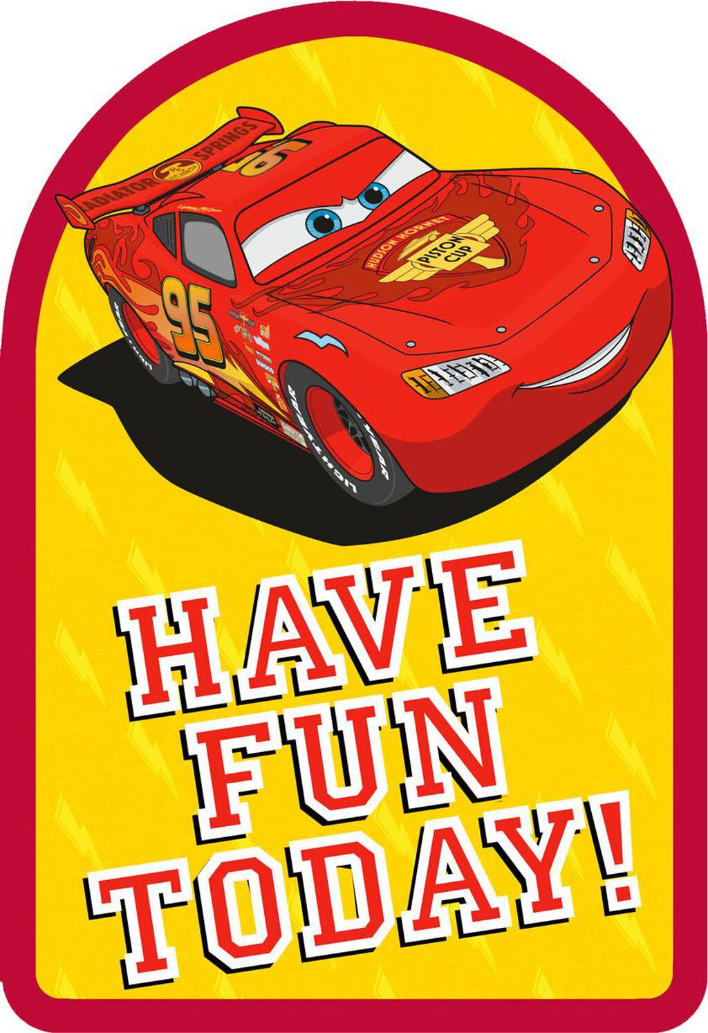 Disney Pixar Cars Lightning McQueen Lasting Fun Birthday Card
