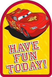 Disney/Pixar Cars Lightning McQueen Lasting Fun Birthday Card,