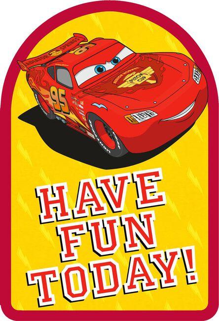 Disneypixar Cars Lightning Mcqueen Lasting Fun Birthday Card