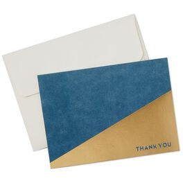 Navy and Gold Modern Thank You Notes, Box of 10, , large