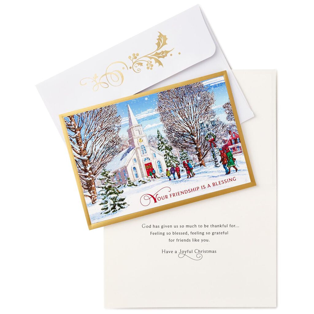 Friendship Is A Blessing Christmas Cards Box Of 16 Boxed Cards