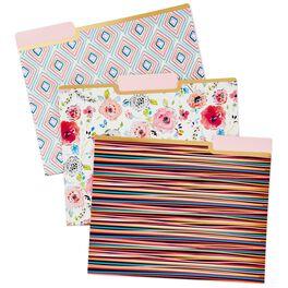 Haute Girls™ Floral File Folders, Set of 6, , large