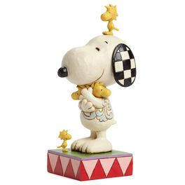 Jim Shore Love Is a Beagle Hug—Snoopy With Woodstock Figurine, , large
