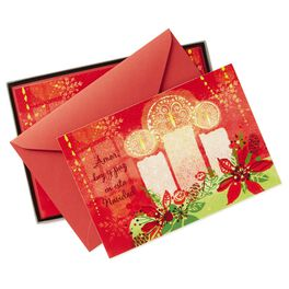 Love, Light and Peace Navidad Christmas Cards, Box of 16, , large
