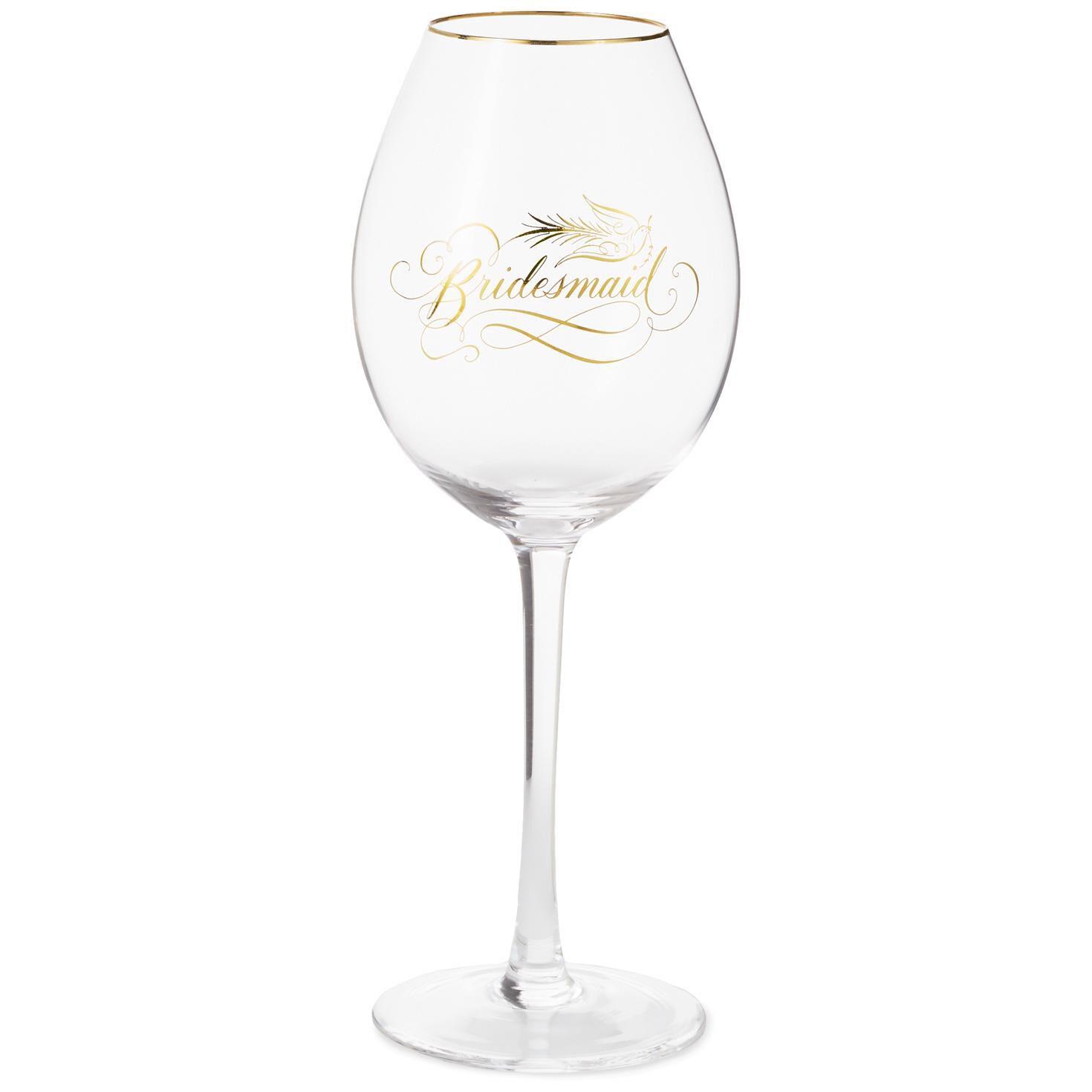 bridesmaid wine glass 16 oz wine glasses hallmark