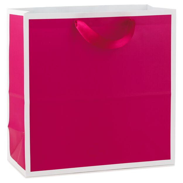 Raspberry large square gift bag 105 gift bags hallmark raspberry large square gift bag 105 negle Image collections