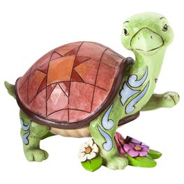 Jim Shore® Slow Down and Smell the Flowers Turtle Figurine, , large