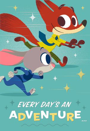 Disney Zootopia Birthday Adventure Card With Magnets