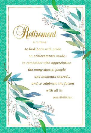 Celebrating the Future Retirement Card