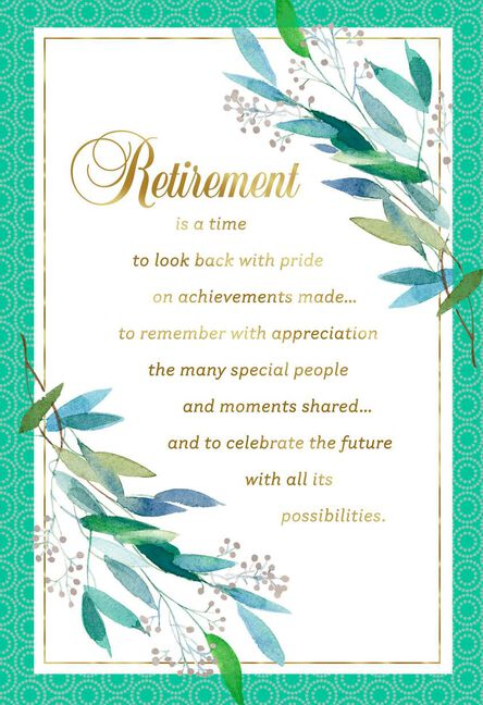 celebrating the future retirement card greeting cards hallmark
