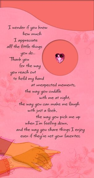 Pink Gem Heart Romantic Sweetest Day Card