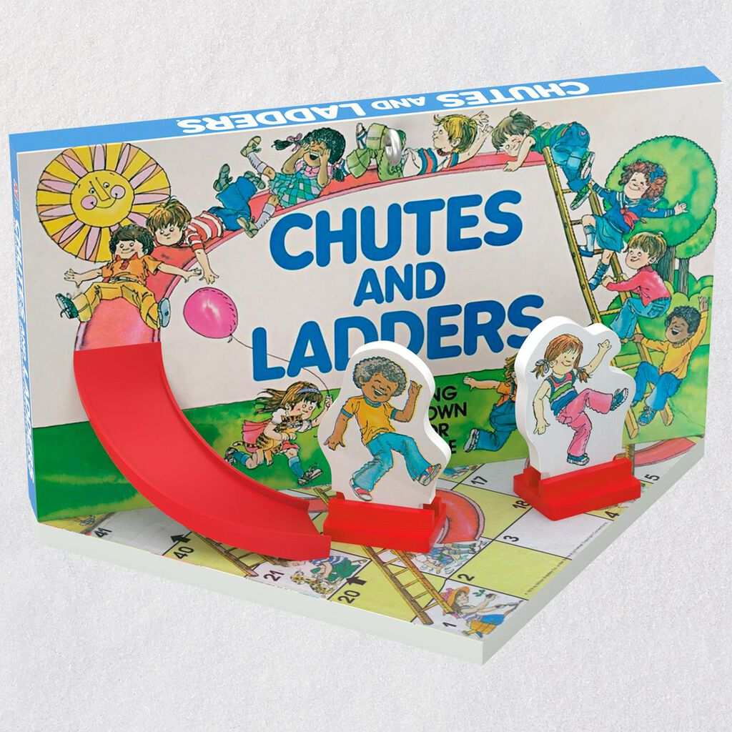 family game night chutes and ladders ornament keepsake ornaments