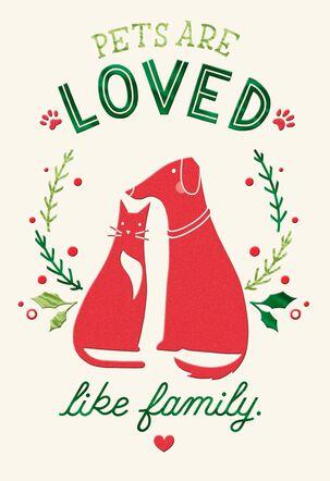 Pet Caregiver Thank You Christmas Card