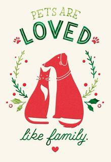 Pet Caregiver Thank You Christmas Card,