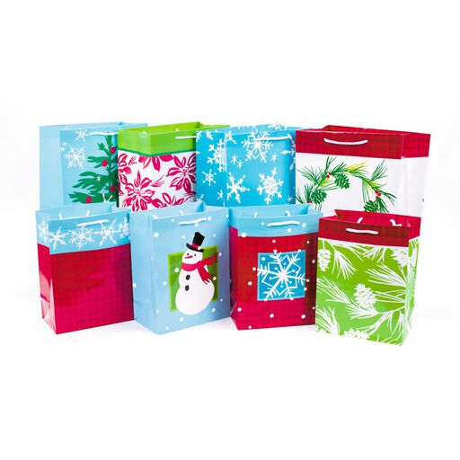 35cdacf1b6c4 Holiday Icons 8-Pack Medium and Large Gift Bags