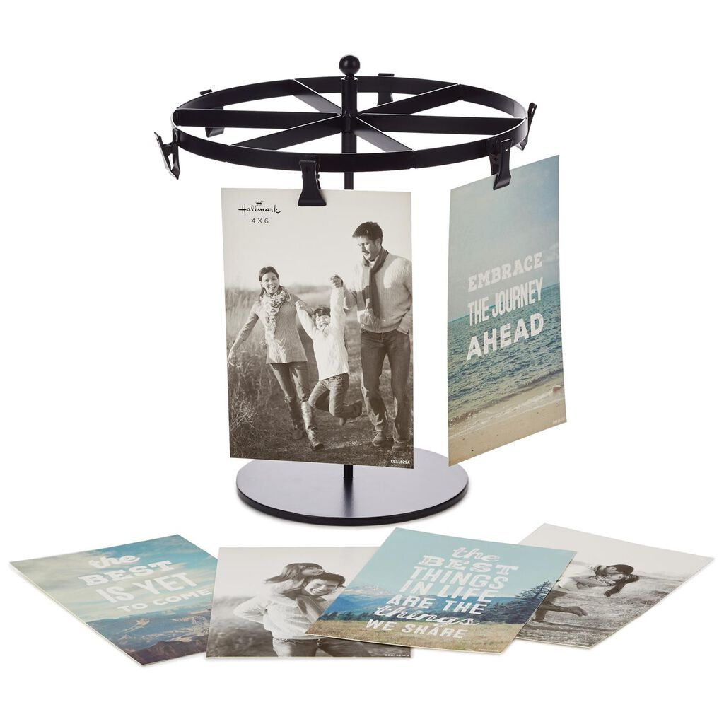 Spinning Metal Picture Frame Stand With Clips - Picture Frames ...