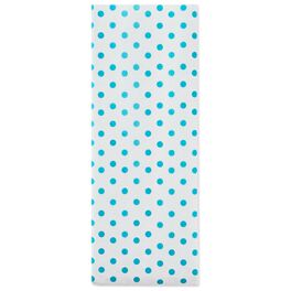 Turquoise Polka Dots Tissue Paper, 6 Sheets, , large