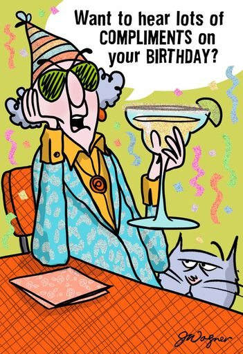My Compliments Funny Birthday Card