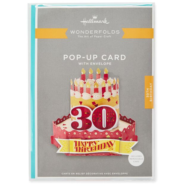 Celebrate With Cake Pop Up 30th Birthday Card Greeting Cards – Birthday Card 30th