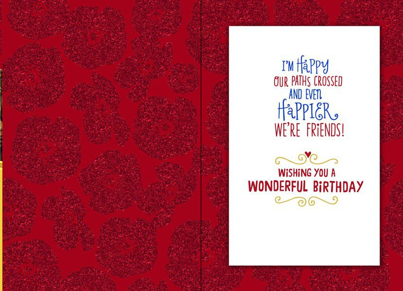 The Wizard Of Oz Yellow Brick Road Friend Birthday Card
