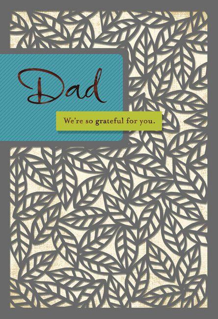 Laser Cut Leaves Birthday Card For Dad Greeting Cards Hallmark