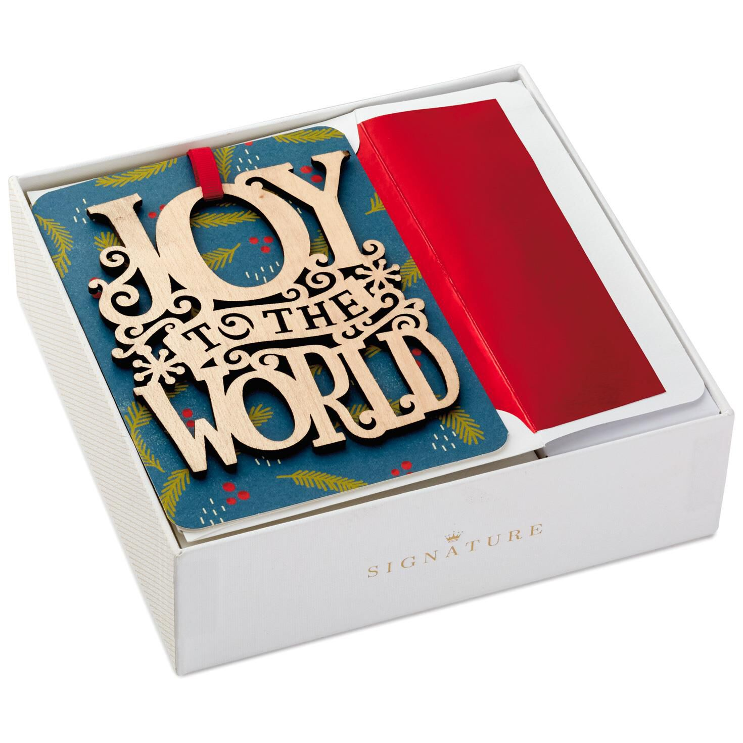 Joy to the World Christmas Cards with Removable Ornaments, Box of 8 ...