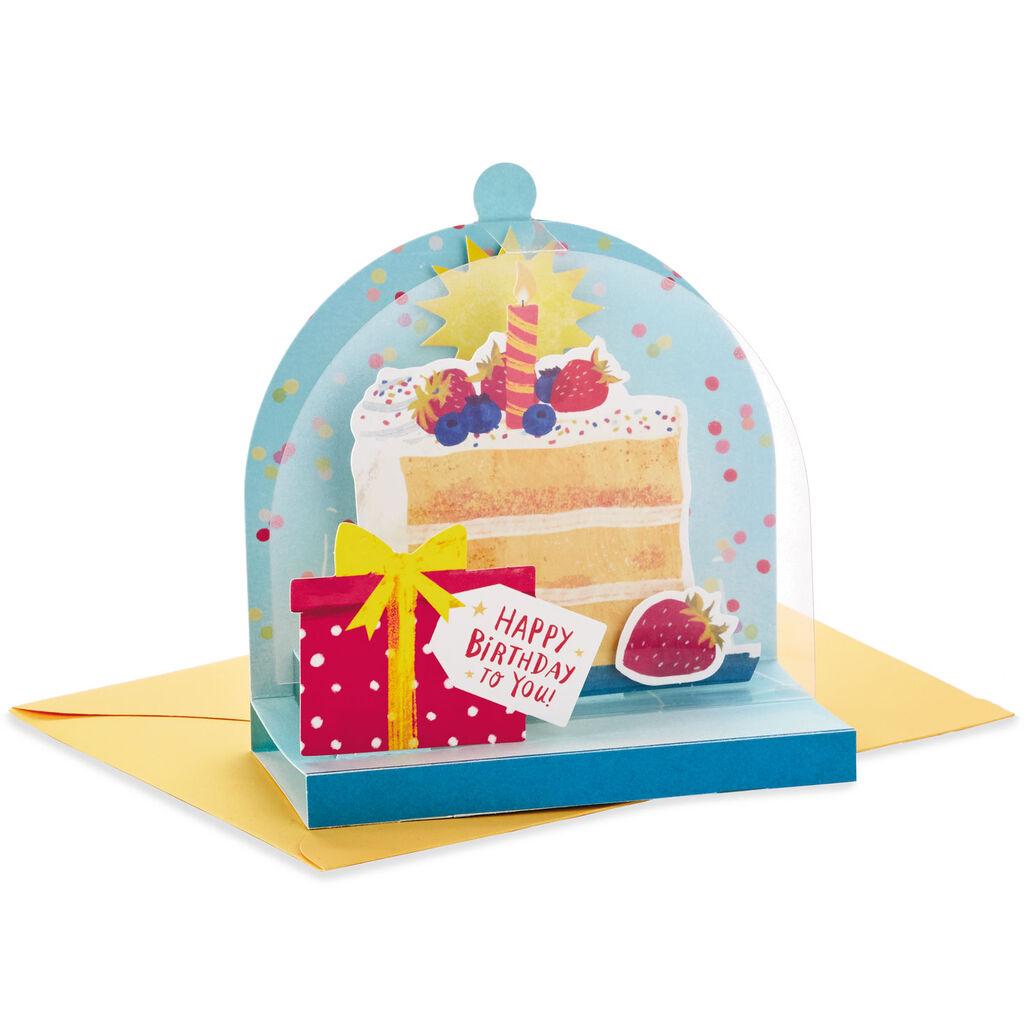 Surprising Cake Cloche Pop Up Birthday Card Greeting Cards Hallmark Personalised Birthday Cards Petedlily Jamesorg