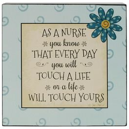 Nurses Touch Lives Box Sign, 8x8, , large