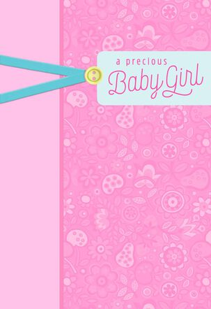 Your Brand New Blessing New Baby Girl Card