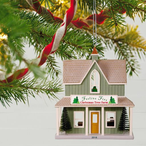 Nostalgic Houses And S Festive Firs Christmas Tree Farm Ornament